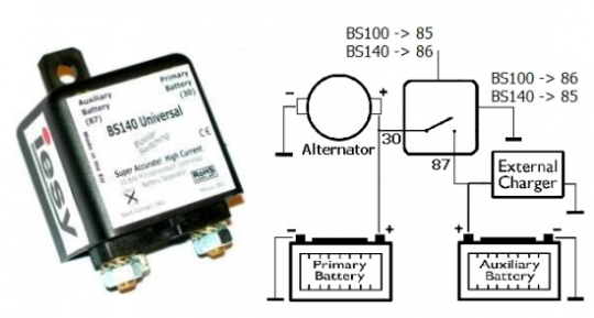 Batterie Seperator BS140 24V