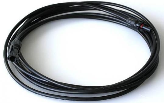 Netzanschlusskabel 5 m Solar MC4 M / F (4mm schwarz)
